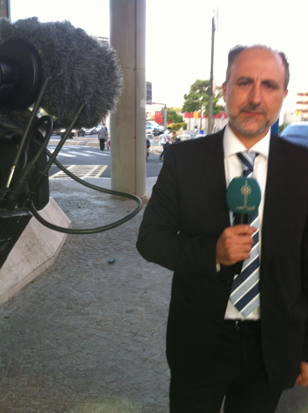 august-rome-airport-national-kuwait-tv-interview